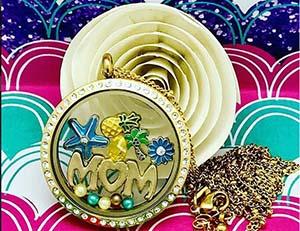 diy floating locket necklace