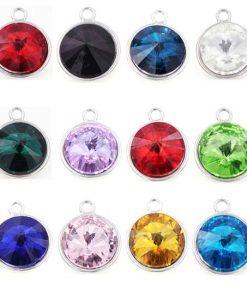 crystal swarovski style birthstone dangle